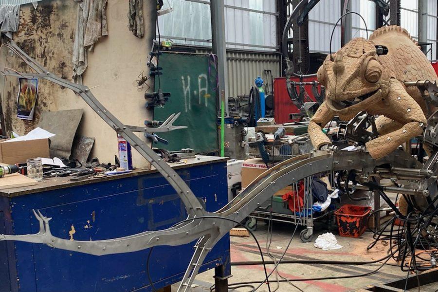 Un caméléon géant aux Machines de l'Île